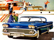 Chevrolet 1958 Impala Ad Poster