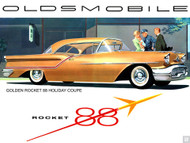 1950s Oldsmobile Ad Poster