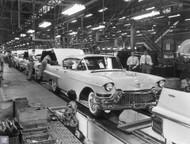 1957 Cadillac Clark Street Plant Poster