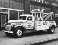 Wood Chevrolet Tow Truck Poster