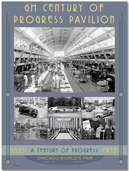 1933 Century of Progress - Assembly Line Poster III