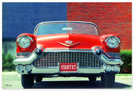 Cadillac 1957 Front View Personalized Poster