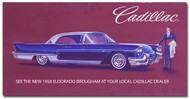 Cadillac Vintage 1958 Metal Sign
