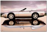 2003 Corvette Stingray Reflection Art Poster
