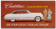 Cadillac Vintage 1949 Metal Sign