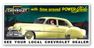 Chevrolet Vintage 1951 Metal Sign