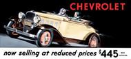 Chevrolet Vintage 1932 Metal Sign