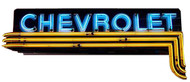Chevrolet Horizonal Vintage Dealer Neon Sign