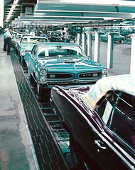 1966 Pontiac Assembly Line Poster