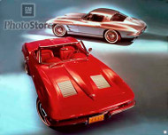 1963 Chevrolet Corvette Models Poster