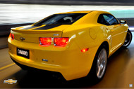 2011 Chevrolet Camaro Rally Yellow Poster