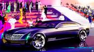 2003 Cadillac Sixteen Concept Art Poster