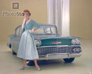 1958 Chevrolet Bel Air Impala Coupe Poster