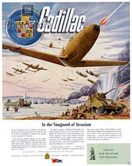 Cadillac 1944 Advertisement Poster