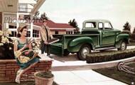 1954 GMC Stepside Pickup Truck Artwork Poster