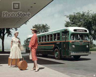 1950 GMC Coach Bus Poster