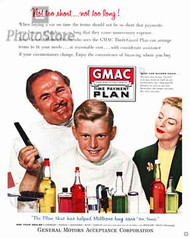 1956 GMAC Time Payment Plan Ad Poster