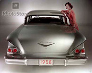 1958 Chevrolet Biscayne 4-Door Sedan Poster