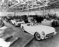 1953 Chevrolet Corvette Assembly Poster