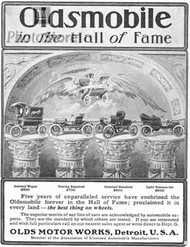 1904 Oldsmobile Hall of Fame Ad Poster