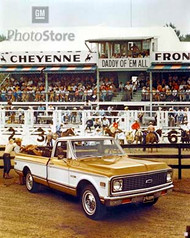 1971 Chevy Cheyenne Fleetside Pickup Poster