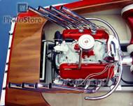 1965 Chevrolet Marine V8 Engine Poster
