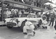 1957 Corvette Racer Pitstop at Sebring Poster