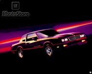 1985 Chevrolet Monte Carlo SS Coupe Poster