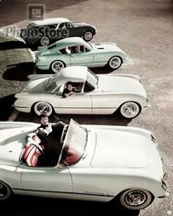 1954 Chevrolet Corvette Lineup Poster