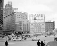 1954 Downtown Detroit - Campus Martius Poster