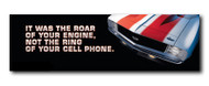 Camaro Metal Sign - It was the roar of your engine...