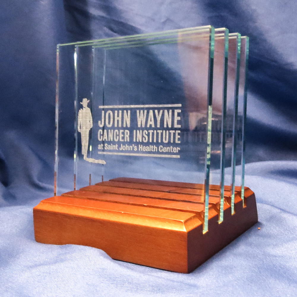 Personalized Square Glass Coasters Set  for John Wayne Cancer Institute