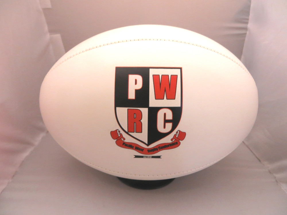 Personalize your own Rugby ball with your school crest.