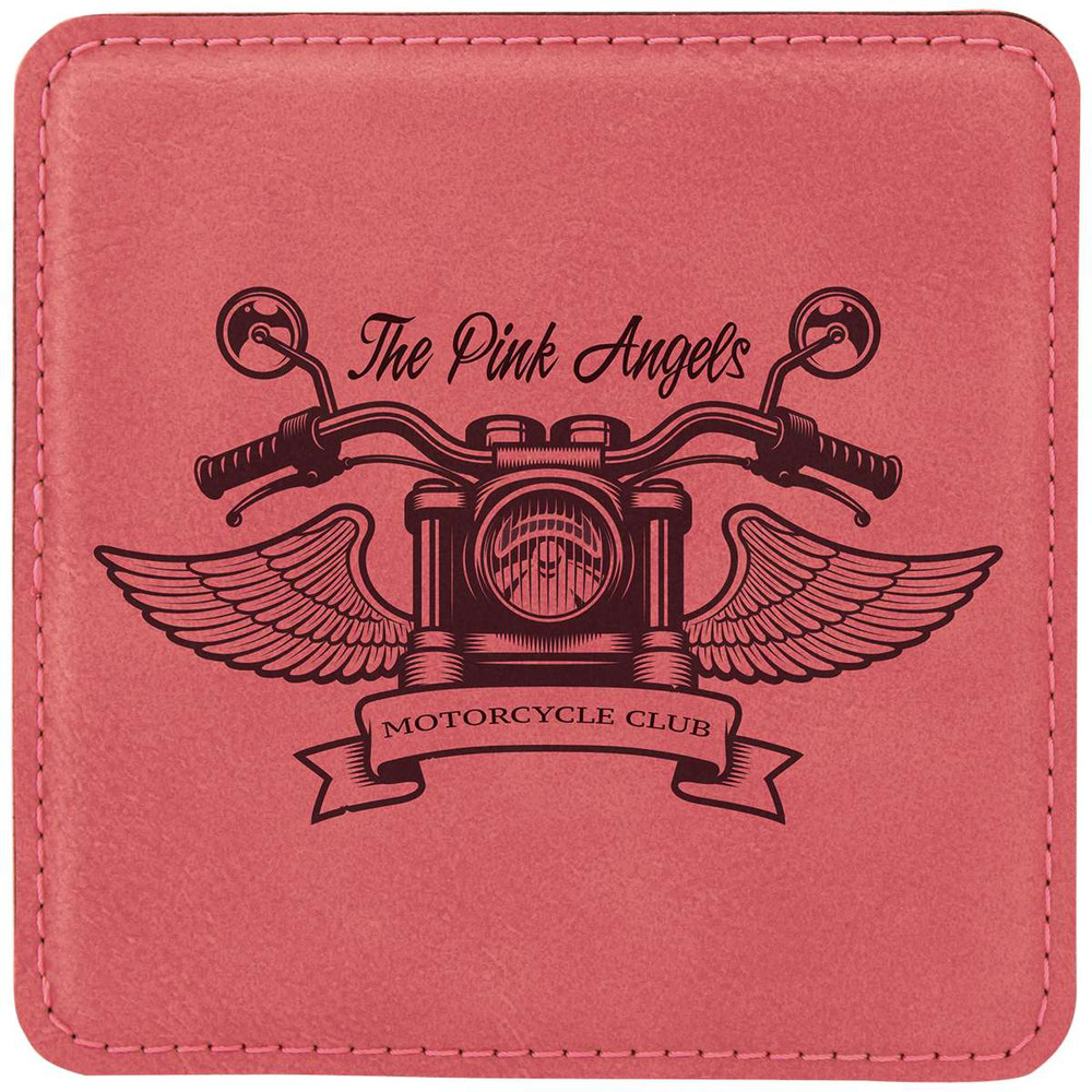 Our pink coasters make great gifts and give away for breast cancer awareness month!