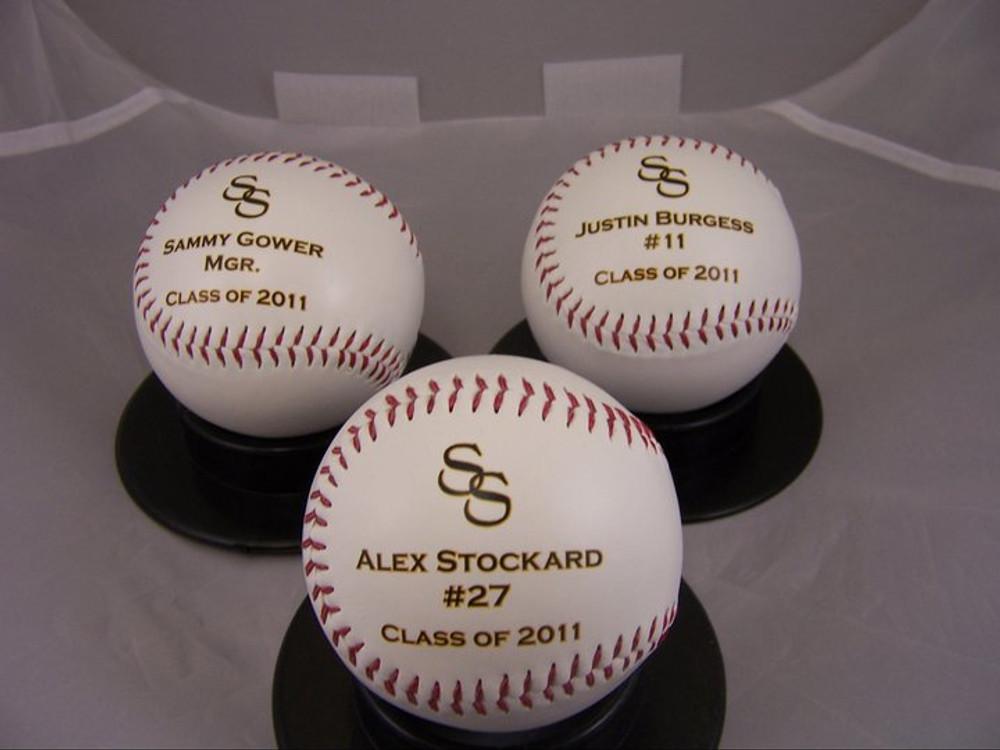 High school Baseball team gift baseball