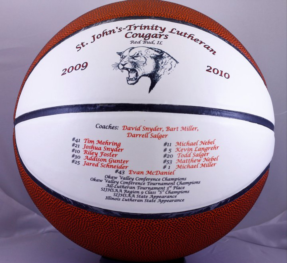 A Personalized Basketball is a great gift idea for Team Achievements. With Team players names, game dates, and team logo it's a perfect gift to remember those special moments.