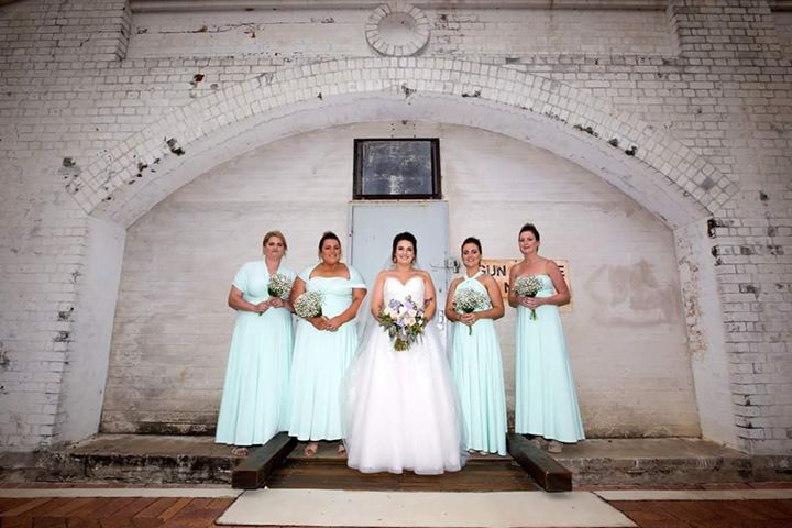 Sammi and her stunning bridetribe rocking our Mint Convertible Dresses. Sammi was married recently in Townsville xx