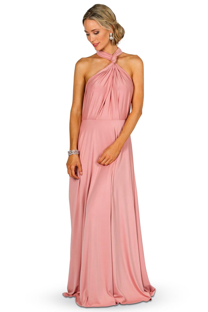 Convertible Bridesmaid Dress Maxi Dusty Pink