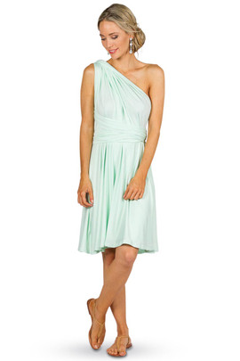 Convertible Bridesmaid Dress Midi - Mint