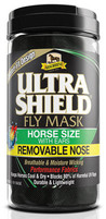 UltraShield Fly Mask Horse Size w/ Ears Removable Nose