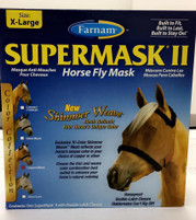 Supermask II Horse Fly Mask XL w/o Ears Copper/Black