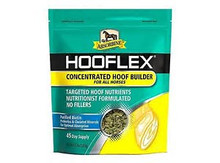 A concentrated horse hoof supplement with no fillers A field-tested and farrier-approved horse hoof supplement for supporting strong, healthy hooves. Comes in a concentrated serving size—just two ounces—with no fillers.  Nutritionist-formulated with targeted hoof nutrients to help provide the essential building blocks that support strong, healthy hooves Zinpro Performance Minerals® 4-Plex®C delivers essential hoof minerals (zinc, copper, manganese, and cobalt) in chelated form for optimal utilization Tasco® AOS is an all-natural prebiotic that supports the gastrointestinal tract so horses get the most out of every pellet Diamond V® Original XPC™ provides prebiotic activity that helps improve nutrient digestibility Omega-3s help support healthy hoof growth Using the Tasco® AOS and Diamond V® Original XPC™ prebiotics, we're able to stimulate the growth and activity of healthy bacteria in the digestive system. Fostering growth of these microbes helps promote optimal absorption of the high quality hoof supplement ingredients.  In a recent field test, horses fed Hooflex® Concentrated Hoof Builder Supplement showed a significant increase in hoof growth.