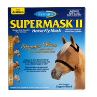 Farnam SuperMask II Fly Control Mask w/o Ears (Arabian)New Shimmer Weave
