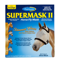 Farnam SuperMask II Fly Control Mask w/o Ears (Horse) New Shimmer Weave