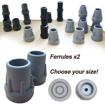 High Quality Rubber Ferrules (2 Pack) - Choose your size/colour!