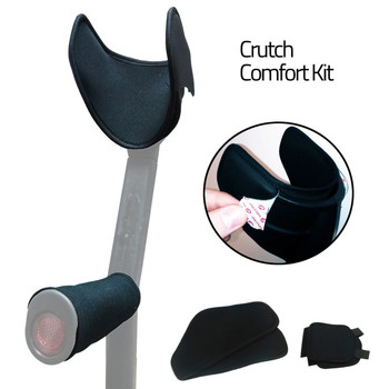 Crutch Comfort Kit - Padded Neoprene Handle Grips & Cuff Pads