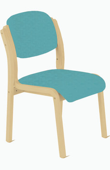 Flex Waiting Room Wooden Chair without Arms