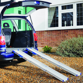 Ultralight Telescopic Lightweight Portable Channel Ramps