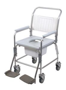 Days Aluminium Economy Wheeled Shower Commode Chair