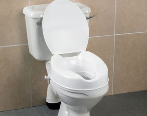"""Days Deluxe 10cm/4"""" Raised Toilet Seat (With Lid)"""